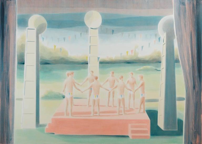 Adam Dix Figurative Painting - Inauguration