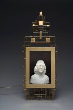 Buste d'homme dans son cadre doré
