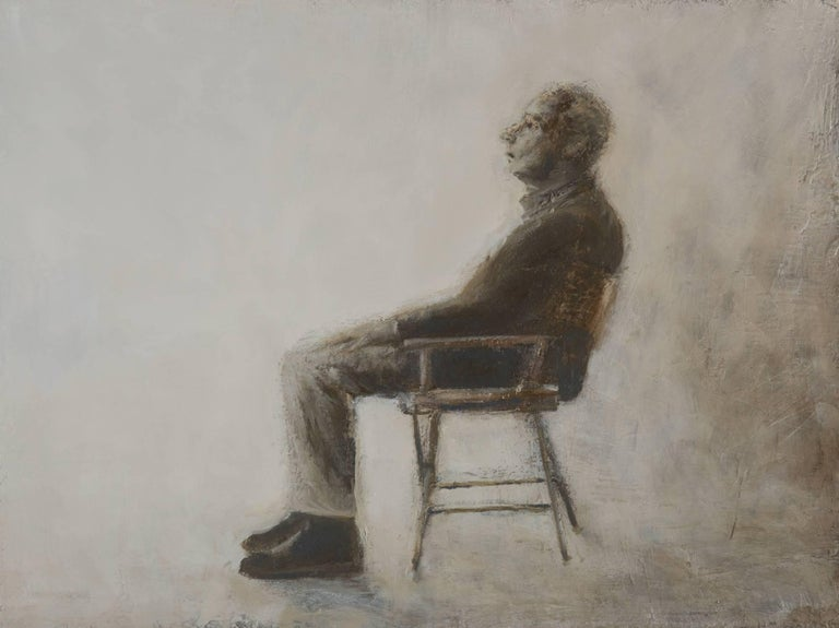 Goran Djurovic Figurative Painting - Sitting Man