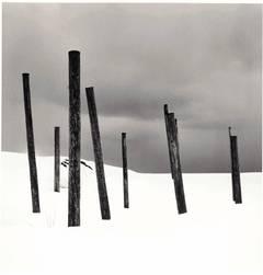 Seven Posts in Snow, Rumoi, Hokkaido, Japan, 2004