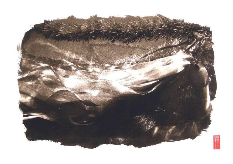 "Ryuijie Black and White Photograph - Kanchi ""K-5"" Kelp Strands"