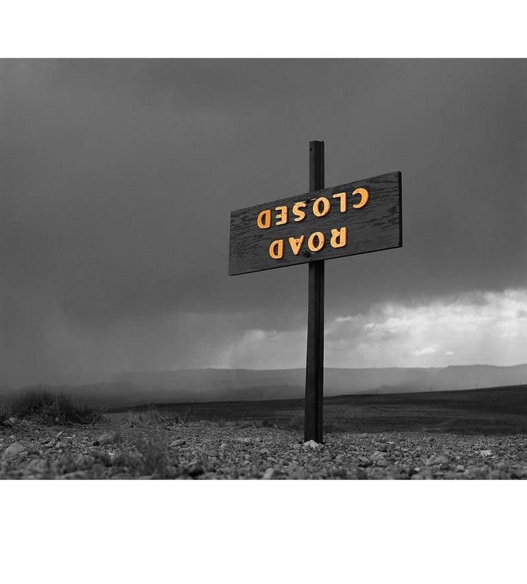 Bob Kolbrener Color Photograph - Road Closed, Utah
