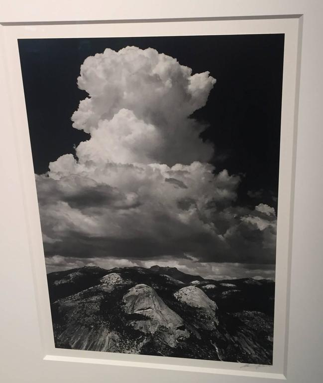 Ansel Adams Black and White Photograph - Thunderhead from Glacier Point, Yosemite