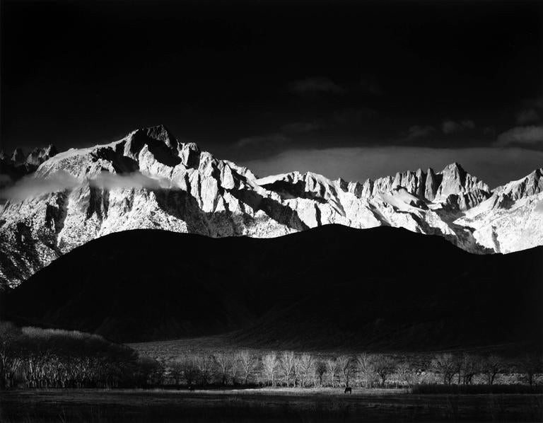 Ansel Adams - Winter Sunrise, Sierra Nevada, from Lone Pine 1