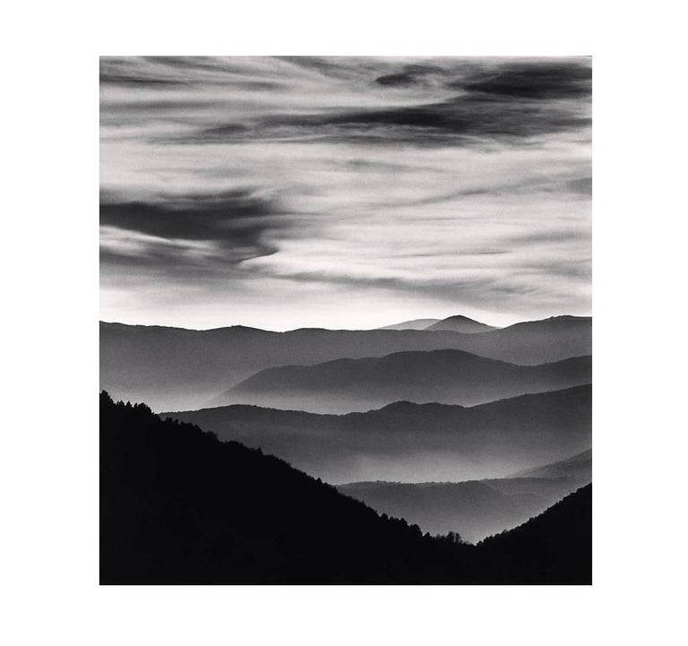 Michael Kenna Black and White Photograph - Distant Mountains, Passo delle Capannelle l Aquila, Abruzzo, Italy