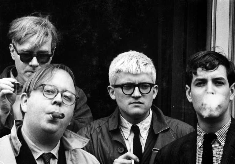 Dennis Hopper Portrait Photograph - Andy Warhol, Henry Geldzahler, David Hockney and David Goodman