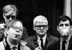 Andy Warhol, Henry Geldzahler, David Hockney and David Goodman