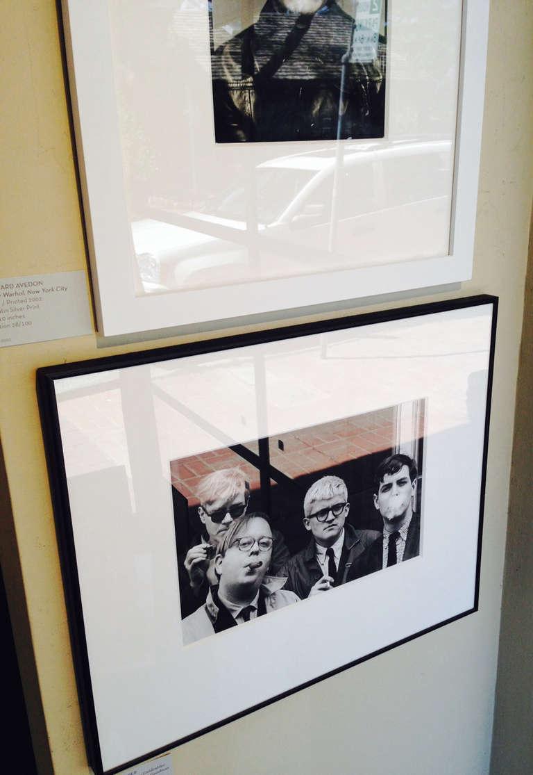 Andy Warhol, Henry Geldzahler, David Hockney and David Goodman - Photograph by Dennis Hopper