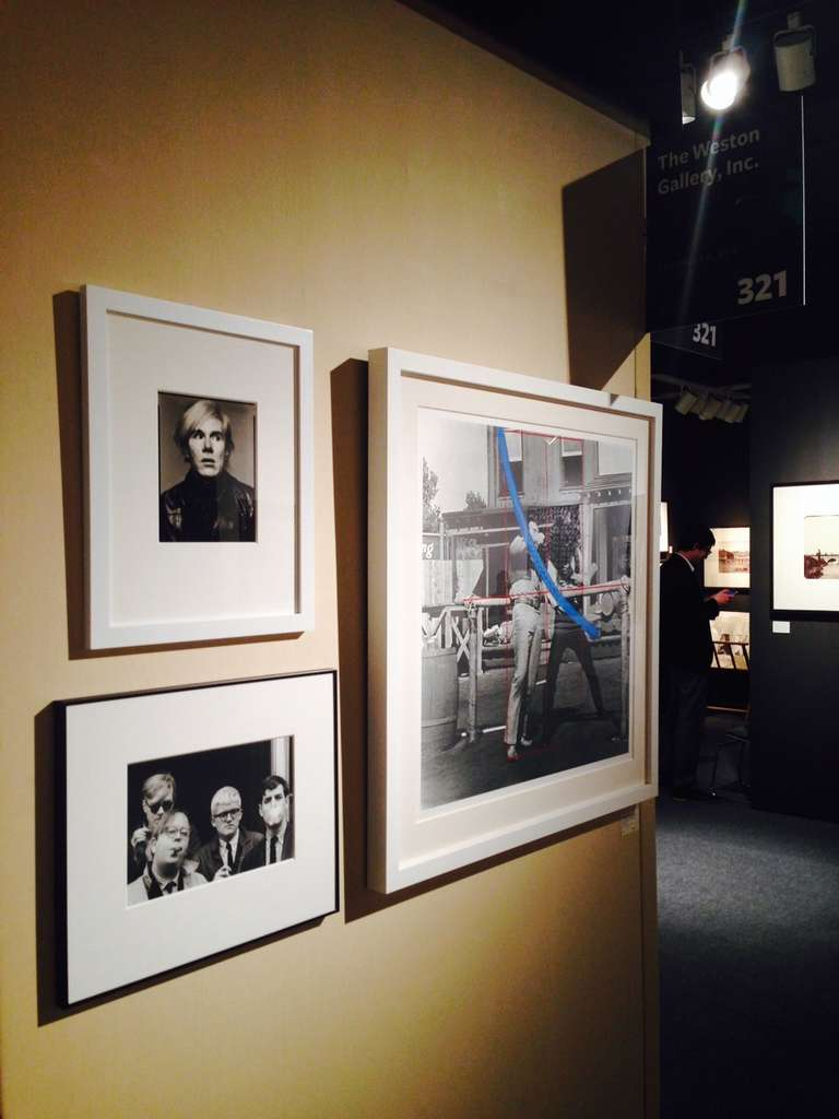 Andy Warhol, Henry Geldzahler, David Hockney and David Goodman - Black Portrait Photograph by Dennis Hopper