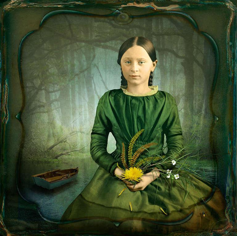 Maggie Taylor Color Photograph - Drift. 2014