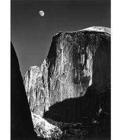 Moon and Half Dome, Early Special Edition Yosemite Print