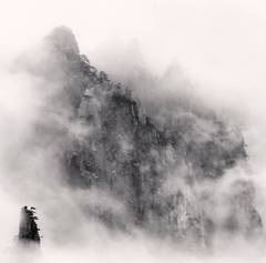 Michael Kenna - Huangshan Mountains, Study 1, Anhui, China. 2010