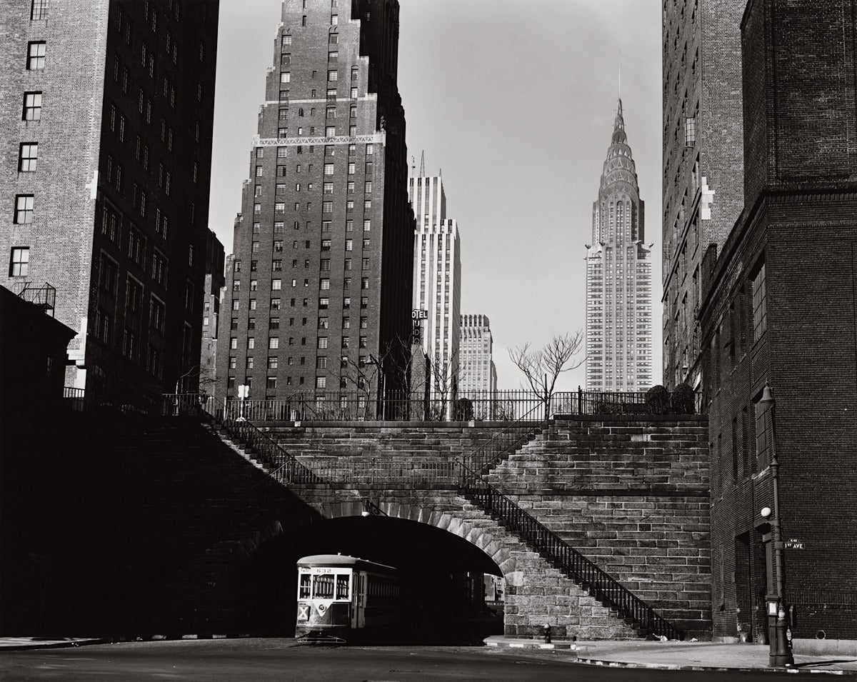 Brett Weston Black and White Photograph - End of 42nd Street, New York