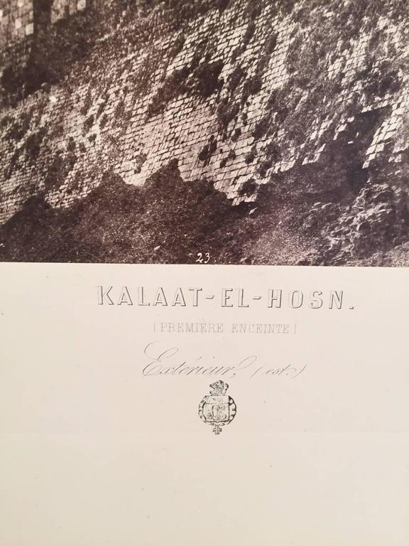 Kalaat-El-Hosn, Premiere Enciente - Gray Black and White Photograph by Louis de Clercq