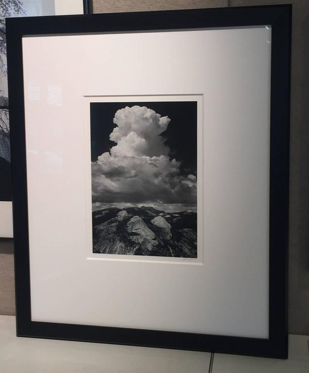 Thunderhead from Glacier Point, Yosemite - Black Black and White Photograph by Ansel Adams