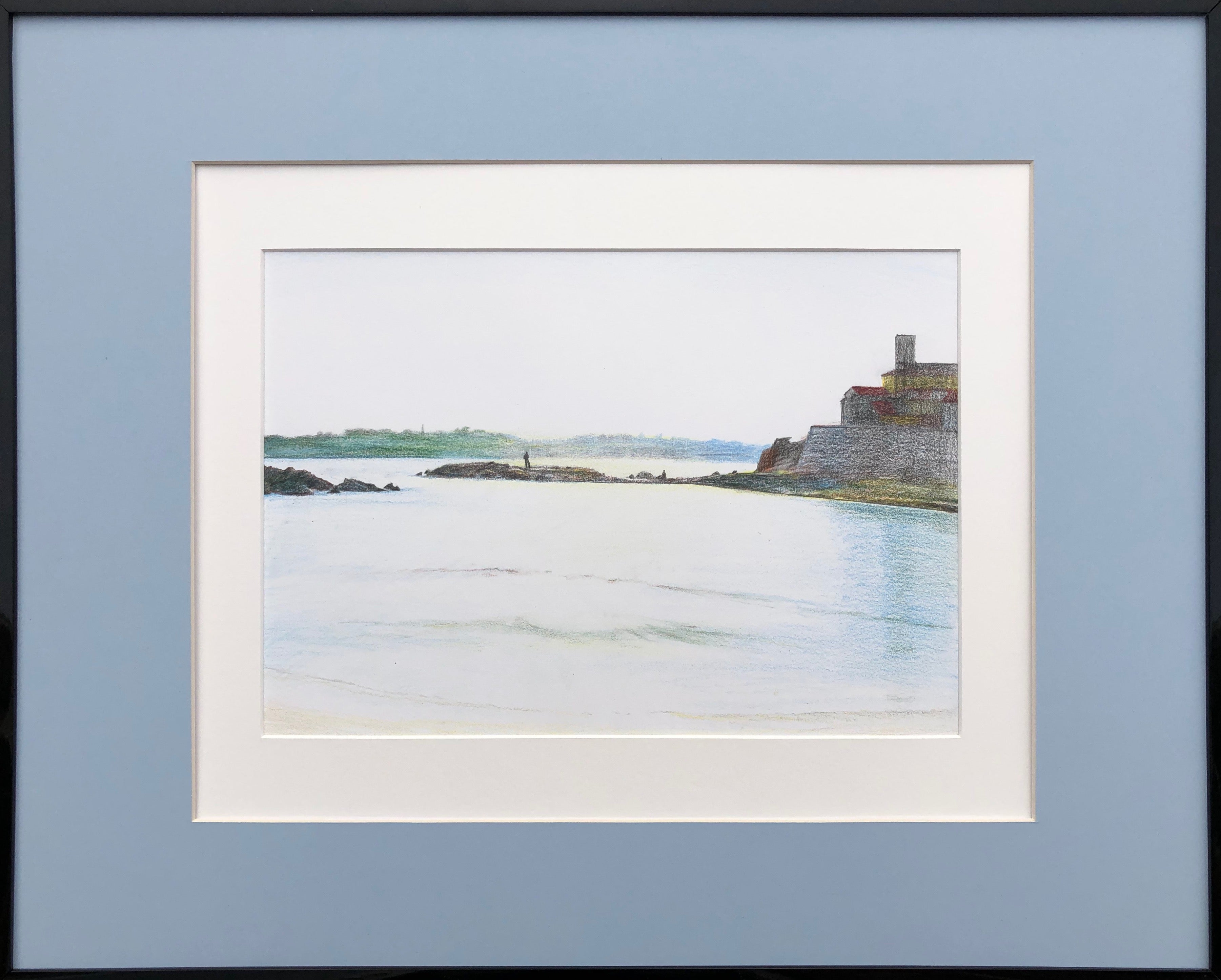 Antibes (France)-seascape made in grey, green, blue, white color