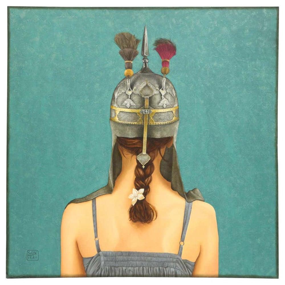 "Morteza Pourhosseini ""The Circus 5"" Oil and Acrylic on Canvas"
