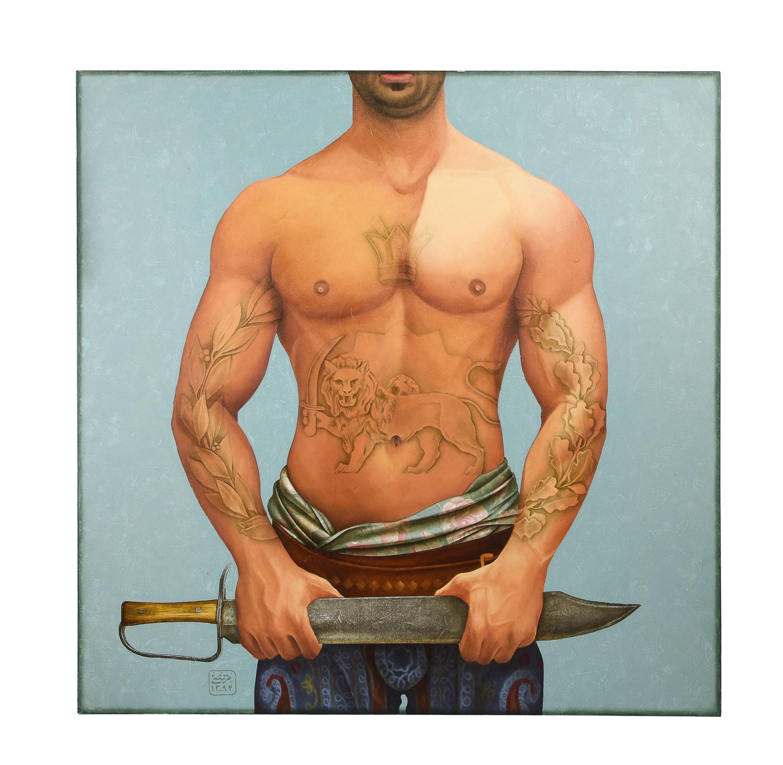 "Morteza Pourhosseini ""The Circus 15"" Oil and Acrylic on Canvas"