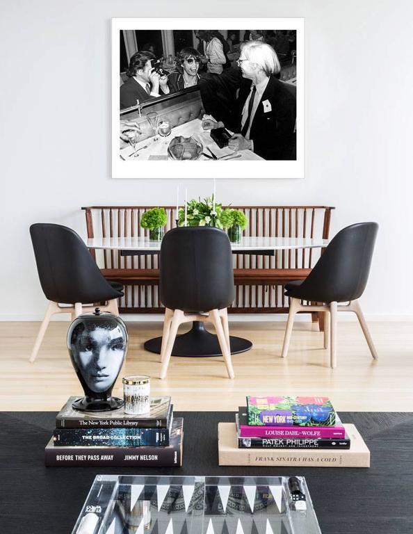 Mick Jagger, Andy Warhol, Windows on the World - Print by Mick Rock