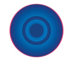 Blue Circle with Red Ring