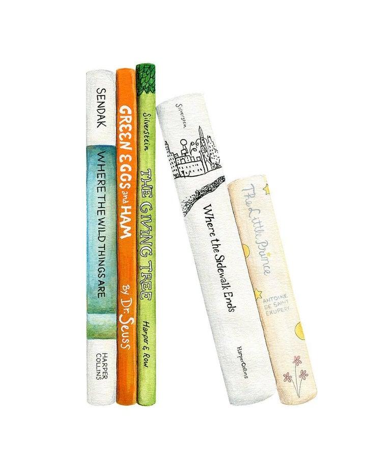 Kendyll Hillegas Still-Life Print - A Child's Bookshelf