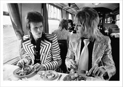 Bowie, Ronson, Lunch on Train to Aberdeen