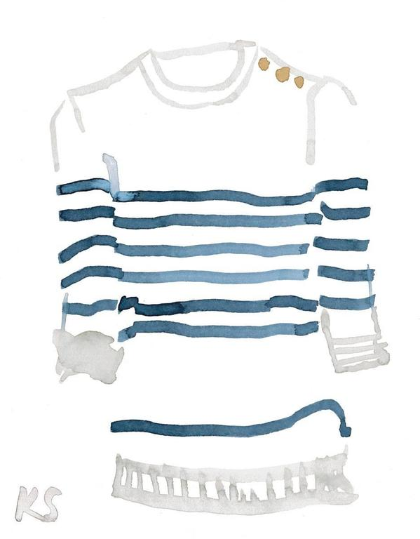 Classic Style Breton Striped Shirt