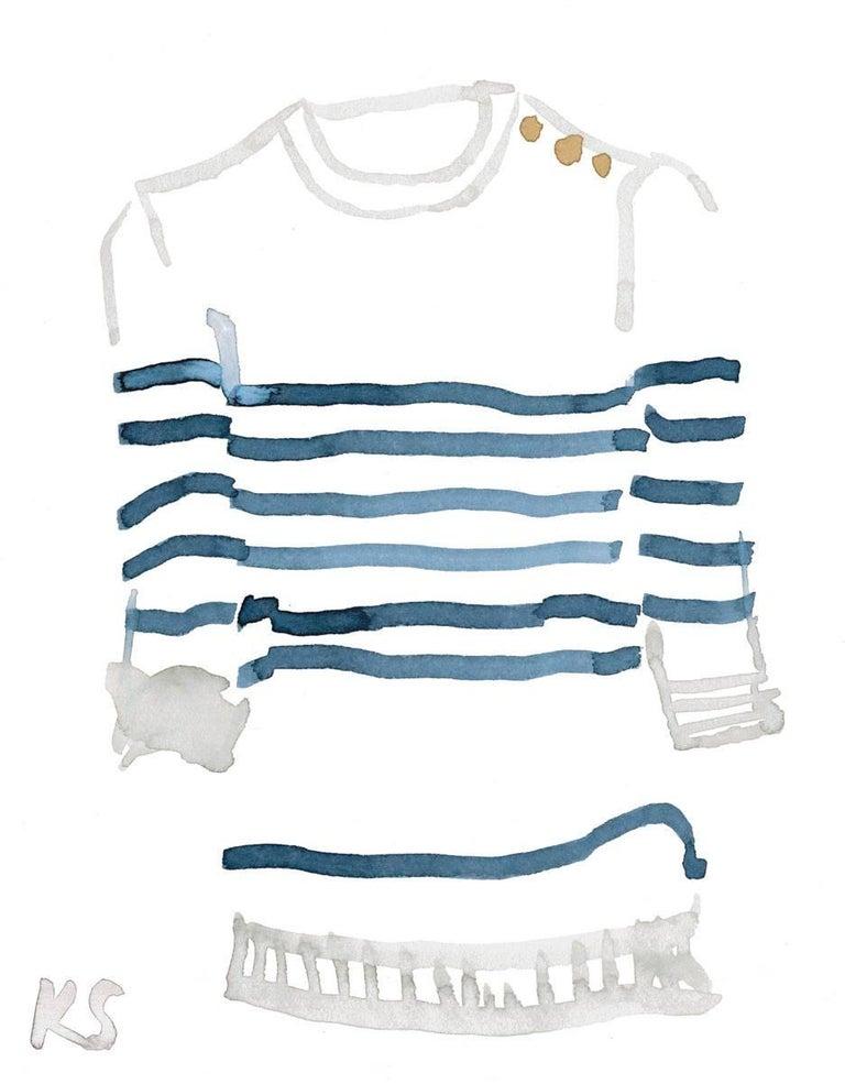 Kate Schelter Still-Life Print - Classic Style Breton Striped Shirt