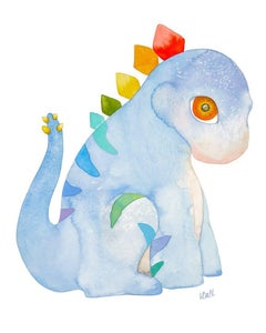 Sidney the Stegosaurus-ORIGINAL WATERCOLOR