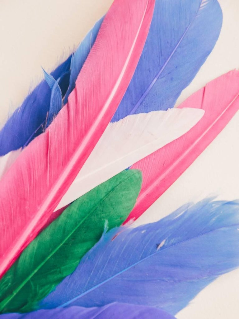 Maria Piessis Abstract Print - Feather or Not 10