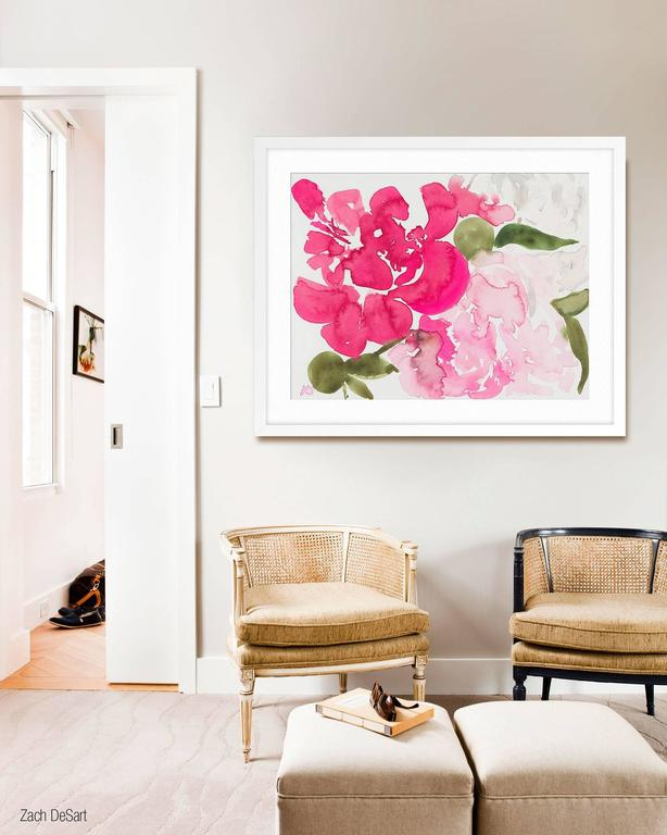 ABOUT THIS PIECE: Peonies was created as a special collaboration with domino Magazine. Kate's New York apartment was featured in the Spring 2016 issue of domino. She created Peonies for her living room and our gallery produced a limited edition