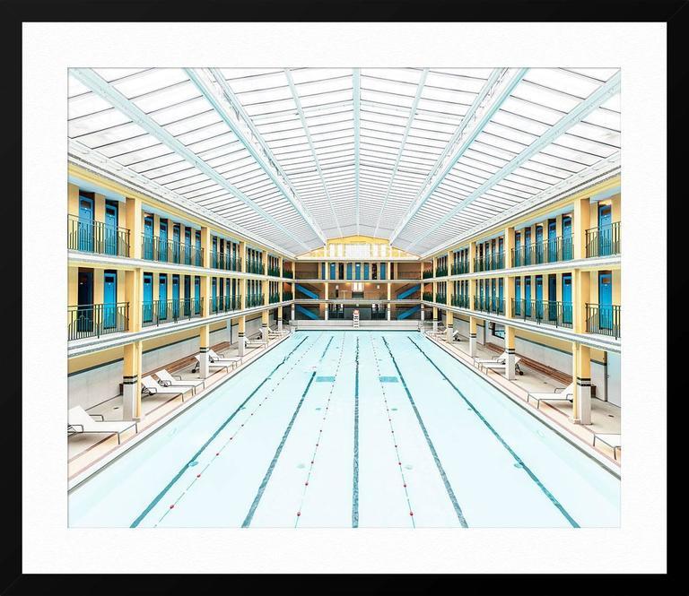 Ludwig favre paris pool print for sale at 1stdibs for Paris public pool
