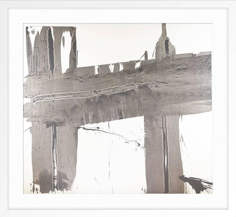 Gray Brushstrokes 1 For Sale 1