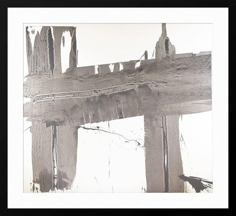 Gray Brushstrokes 1 For Sale 2