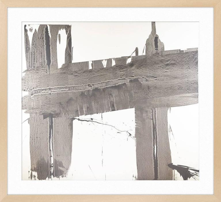 Gray Brushstrokes 1 For Sale 3