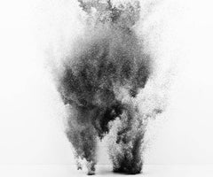 Exploding Powder Movement: Black and White