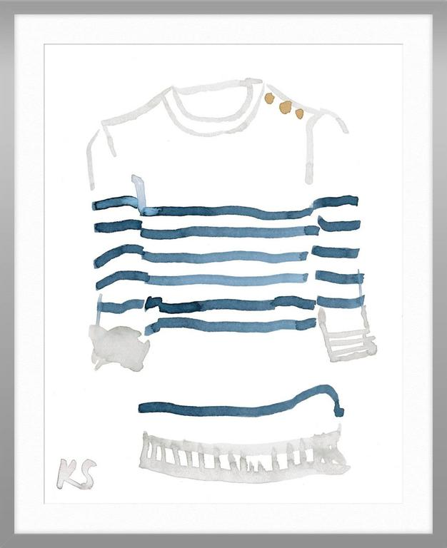 Classic Style Breton Striped Shirt 4