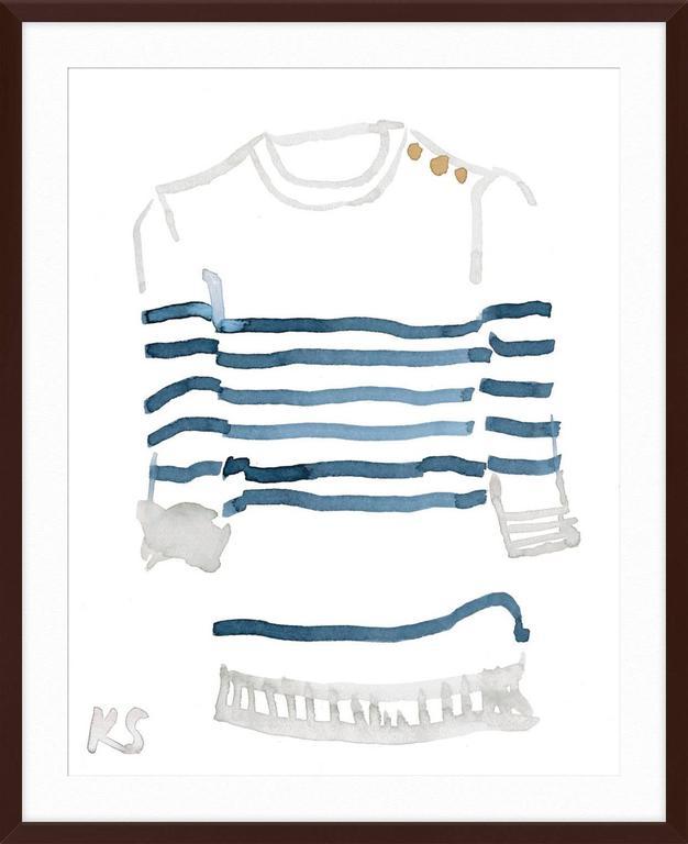 Classic Style Breton Striped Shirt 3