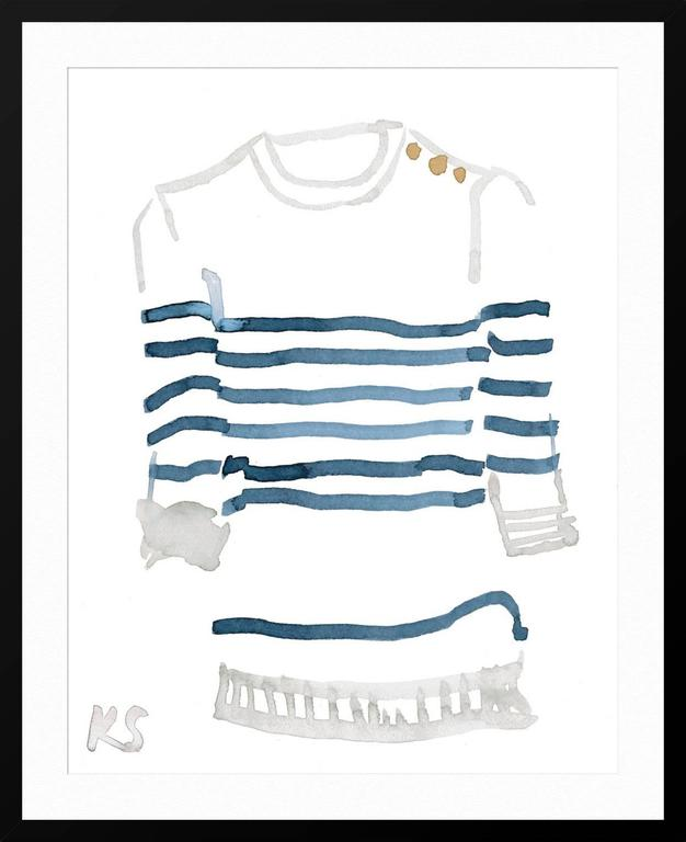 Classic Style Breton Striped Shirt 1