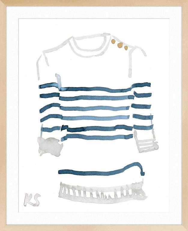 Classic Style Breton Striped Shirt 2
