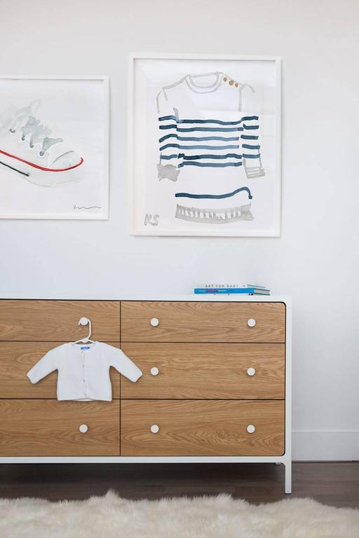 Classic Style Breton Striped Shirt - Gray Still-Life Print by Kate Schelter