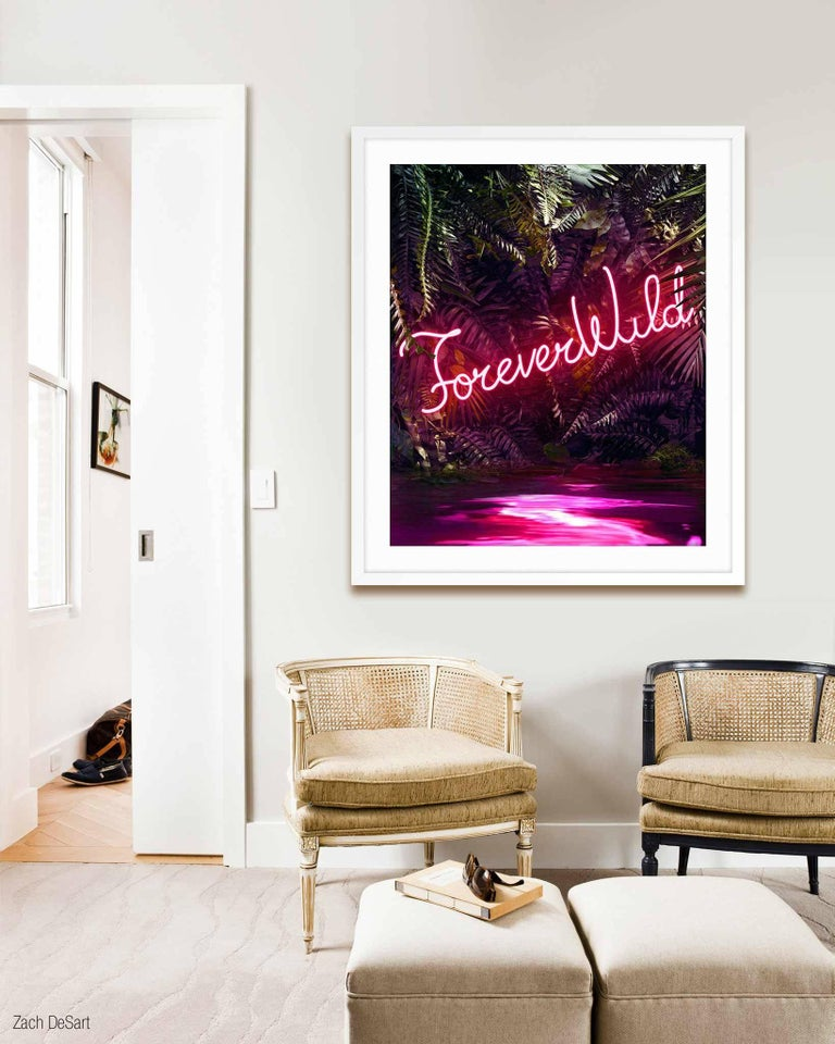 Disco in the Jungle: Forever Wild - Black Abstract Print by Yee Wong