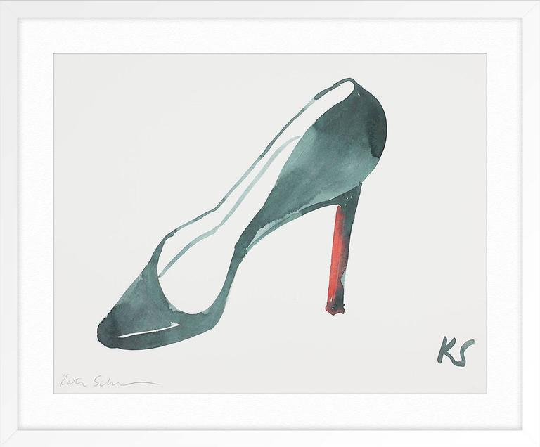 Louboutin - Gray Still-Life Print by Kate Schelter