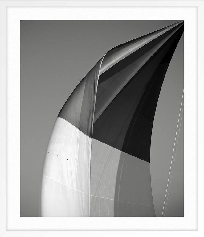 SAILS XX; SPINNAKER OF THE VELSHEDA - Gray Print by Jonathan Chritchley