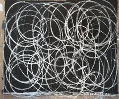 Black With Many White Swirls