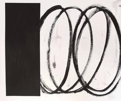 Black Square With Swirls