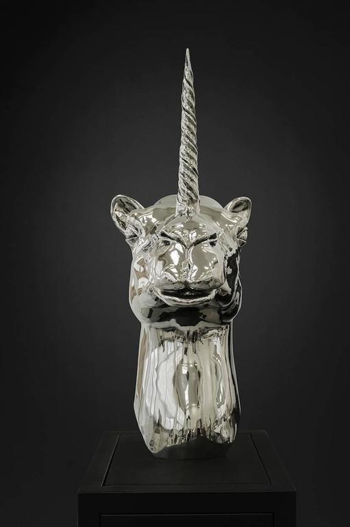 Camel-Unicorn Head - Contemporary Sculpture by Mauro Corda