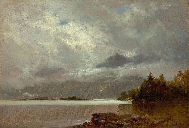 David Johnson Morning Lake George Painting At 1stdibs