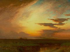 Samuel Colman - Twilight on the Western Plains