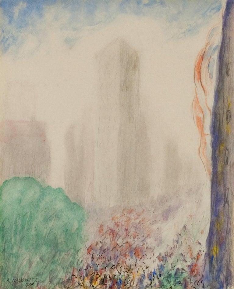 Abraham Walkowitz Landscape Painting - New York